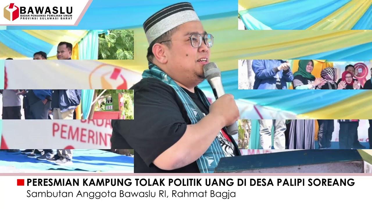 Peresmian Desa Palipi Soreang sebagai Desa Tolak Politik Uang,